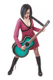 Emo Girl With Guitar Stock Image
