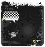 Emo grunge background Stock Images
