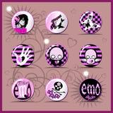 Emo icon Stock Photography