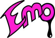 emo inskrypcja ilustracja wektor