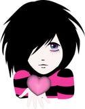 Emo kid. Nice emo kid. Vector illustration Royalty Free Stock Images