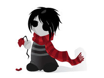 Emo Kid with Flower Royalty Free Stock Photo
