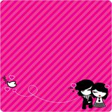 Emo love Background Royalty Free Stock Images