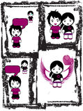 Emo Love Comix Royalty Free Stock Photo