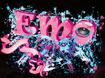 Emo music background Royalty Free Stock Image