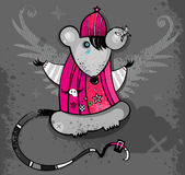 Emo Rat Royalty Free Stock Photography