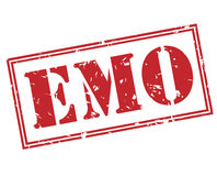 Emo red stamp Stock Image