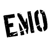 Emo rubber stamp Royalty Free Stock Photography