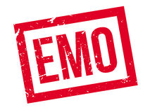 Emo rubber stamp Stock Photo