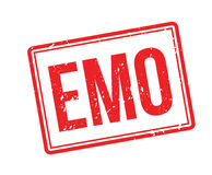 Emo rubber stamp Royalty Free Stock Photo