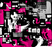 Emo seamless background Stock Photography