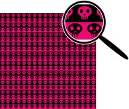 Emo seamless pattern. Emo pink seamless pattern with sculls royalty free illustration