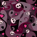 Emo Seamless Pattern Royalty Free Stock Image