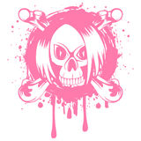 Emo_skull 免版税库存照片
