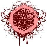 Emo_skull 免版税图库摄影