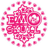 Emo_skull 免版税库存图片