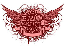 Emo_skull Royalty Free Stock Image