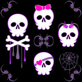 Emo skulls Royalty Free Stock Photos