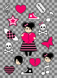 Emo stickers Stock Photography