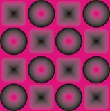 Emo style pink background. Emo style background pink and black rounds and squars Royalty Free Stock Photo