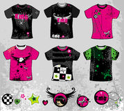 Emo t-shirts. To see similar, please visit my gallery Stock Illustration