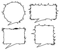 Emo talk dialogs. Talk dialog or speech bubbles with stylish emo horny appearance Stock Photography