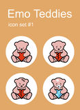 Emo Teddies icons Stock Photos
