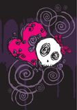 Emo valentine character 5. Hand drawn vector of an Emo valentine character on grunge background Stock Photo
