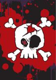 Emo valentine character 5. Hand drawn vector of an Emo valentine character on grunge background Royalty Free Stock Image