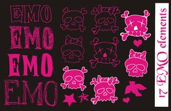 EMO vector elements Royalty Free Stock Image