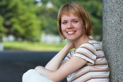 Emoción de la muchacha Foto de archivo libre de regalías