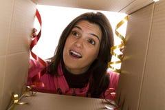 Emoción del presente correcto Foto de archivo libre de regalías
