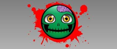 Emoción del zombi Foto de archivo