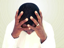 Emoción humana - tensión Imagen de archivo libre de regalías