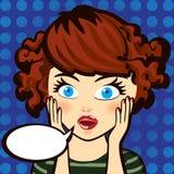 emoción Mujer triguena sorprendida Expresión, mirada y palabra Imagen de archivo libre de regalías