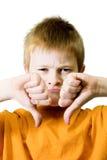 Emoción negativa Foto de archivo libre de regalías