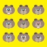 Emoci ikona ustawiająca - niedźwiedź Zdjęcie Stock