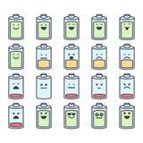 Emoci ikony set Obrazy Royalty Free