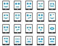Emoci pastylki mobilne ikony Obrazy Stock