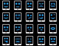 Emoci pastylki mobilne ikony Obrazy Royalty Free