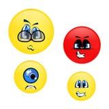 Emoci Smiley twarze Fotografia Stock