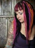 Emoción de la muchacha de Goth Imagenes de archivo