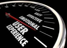 Emocional eficaz fácil de la satisfacción del cliente de la experiencia del usuario stock de ilustración