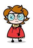 Emocionalmente ferido - desenhos animados do adolescente ilustração inteligente do vetor da menina ilustração royalty free