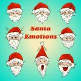 Emociones coloreadas de santa libre illustration