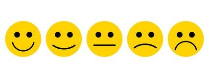 Emociones con sonrisas stock de ilustración