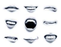 Emociones de la boca Imagen de archivo