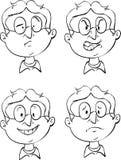 Emociones de la cara libre illustration