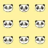 Emociones de la panda Fotografía de archivo
