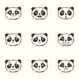 Emociones de la panda Foto de archivo libre de regalías